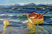"""ON THE EDGE, Wind in the Willows at Savary Island   24""""x36""""  oil on canvas"""